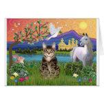 Cat -(Tabby) - Fantasy Land Greeting Card