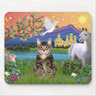 Cat -(Tabby) - Fantasy Land Mouse Pad