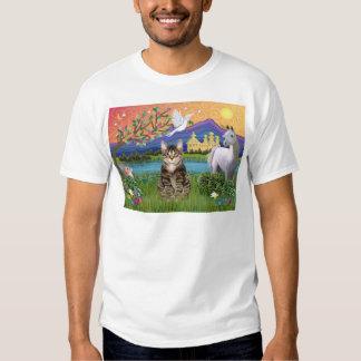 Cat -(Tabby) - Fantasy Land Tee Shirt