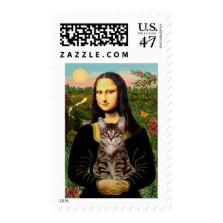 CAT (Tabby) - Mona Lisa Postage