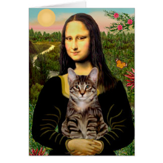 CAT (Tabby) - Mona Lisa Felicitacion