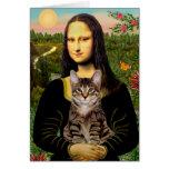 CAT (Tabby) - Mona Lisa Tarjeta De Felicitación