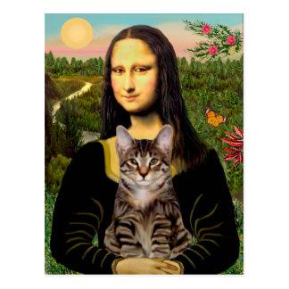 CAT (Tabby) - Mona Lisa Tarjeta Postal