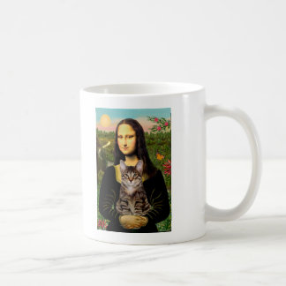 CAT (Tabby) - Mona Lisa Taza Clásica