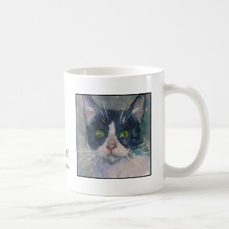 Cat Tail Gallery Mug - Tuxedo Cat