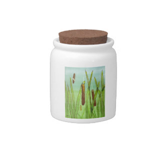 Cat Tails Candy Jar