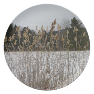 CAT TAILS IN THE FIELD DINNER PLATE