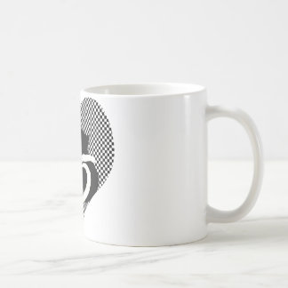 CAT tails - love black white Classic White Coffee Mug