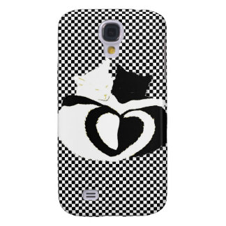 CAT tails - love black white Galaxy S4 Cases