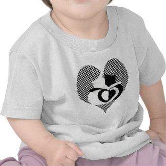 CAT tails - love black white Tee Shirt