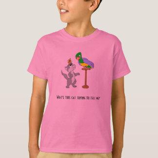 Cat Talking To Parrot T-Shirt