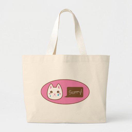 ¡CAT tan triste! Bolsa De Mano