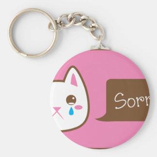 ¡CAT tan triste! Llavero Redondo Tipo Pin