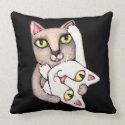 Cat Tango Dance American MoJo Throw Pillow throwpillow