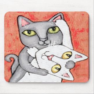Cat Tango Dance Art Mousepad