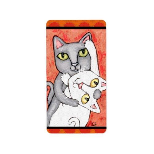 Cat Tango Dance Sticker / Labels label
