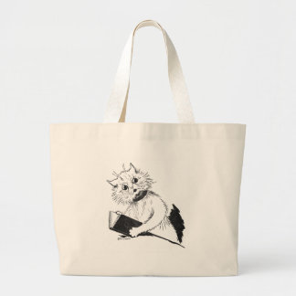 Cat Teacher with Educational Book Tote Bag