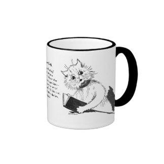 Cat Teacher with Educational Book Ringer Coffee Mug
