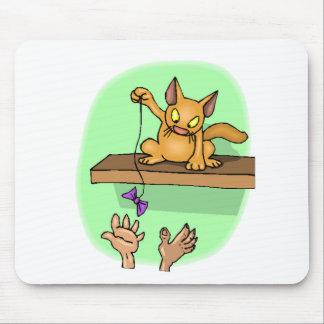 Cat Teasing Mouse Pads