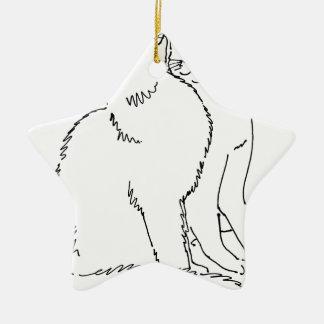 Cat Templates.jpg Ceramic Ornament