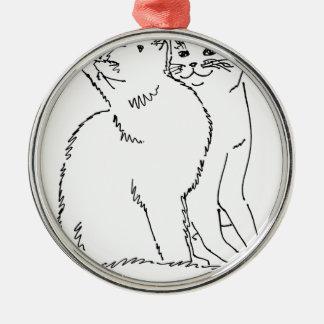Cat Templates.jpg Metal Ornament