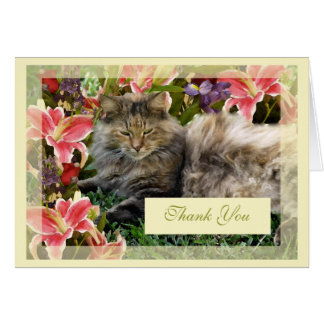 """Cat"" Thank You Card Blank"
