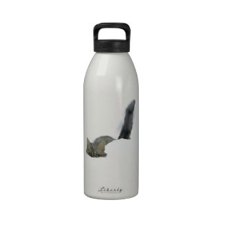 Cat That Loves Snow Reusable Water Bottles