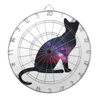 Cat that shows the galaxy and the big universe dartboards