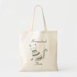 Cat Theme for Homeschooling Moms Tote Bag