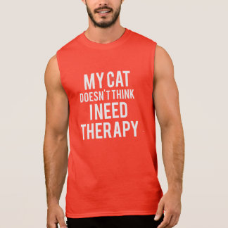 Cat Therapy Men's Sleeveless T-Shirt
