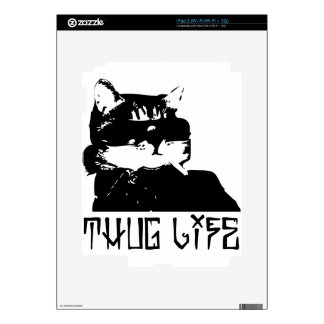 cat-thug-life-cholo decals for the iPad 2