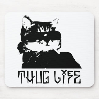 cat-thug-life-cholo mouse pad