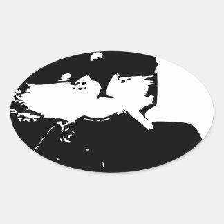cat-thug-life-cholo oval sticker