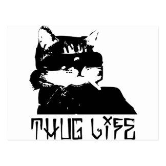 cat-thug-life-cholo postcard