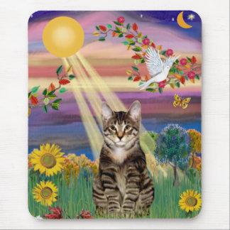 Cat (Tiger) - Autumn Sun Mouse Pad