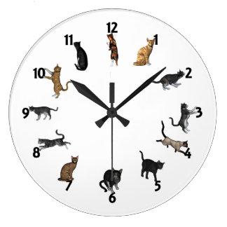 Cat Time Wallclocks