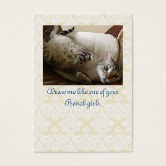 Cat Titanic Quote Brocade Gift Tag