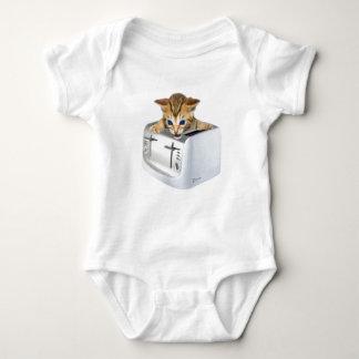 Cat Toaster Baby Bodysuit