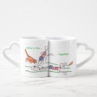 Cat Togetherness Lovers' Mug Set