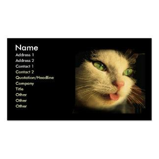 Cat Tongue Business Card Template