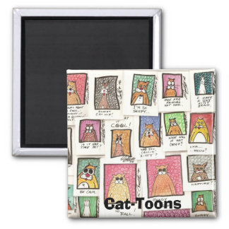 Cat-Toons Fridge Magnets