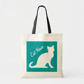 Cat tote bags | Personalized pet name