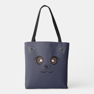 Cat Tote - Prussian Blue