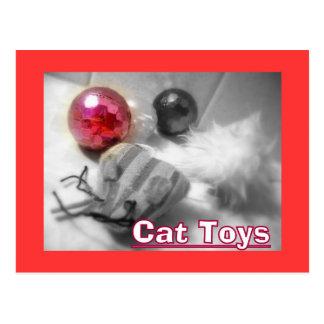 cat toys2 unique postcard