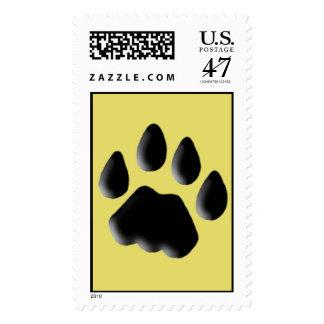 Cat Track Pawprint Postage Stamp
