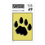 Cat Track Pawprint Postage Stamps