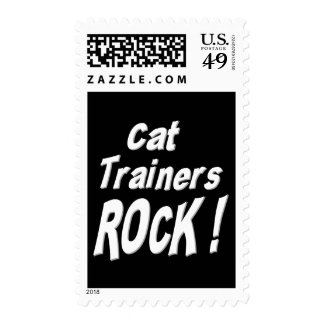 Cat Trainers Rock ! Postage Stamp