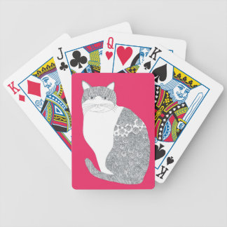 Cat tramp bicycle playing cards