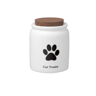Cat Treat Jar - Add your pet's name Candy Jars
