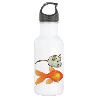 Cat Treats (Mice and Fish) 18oz Water Bottle